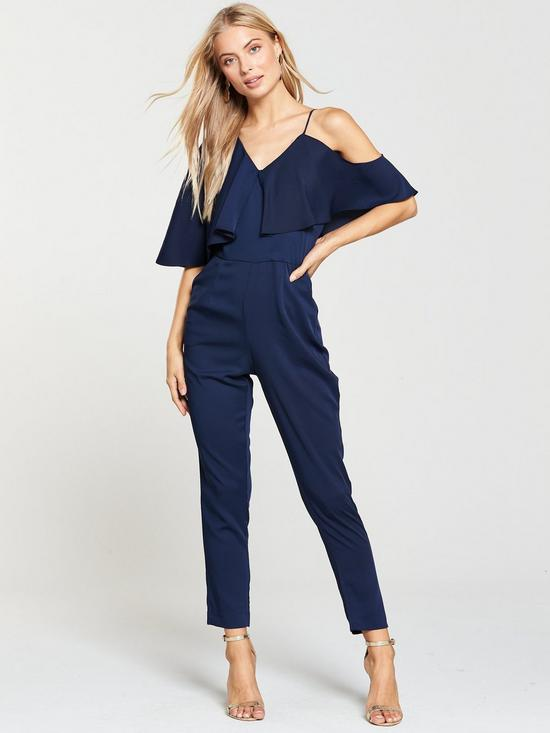 women-outfit-Lavish-Alice-Off-The-Shoulder-Tapered-Jumpsuit Best 20 Balenciaga Shoes Outfit Ideas for Women in 2021