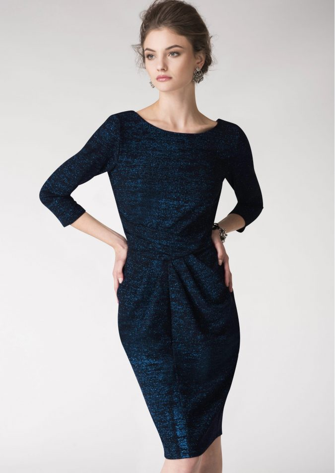 women-outfit-glittery-navy-dress-675x953 Best 20 Balenciaga Shoes Outfit Ideas for Women in 2021