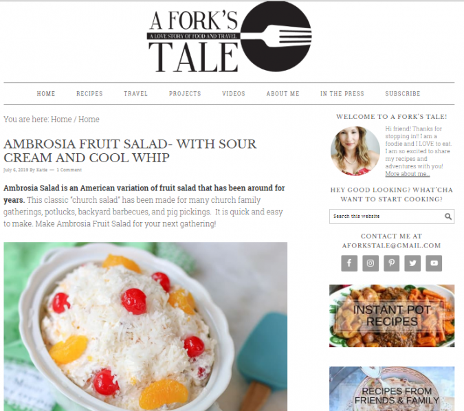 A-Fork's-Tale-675x598 Best 50 Healthy Food Blogs and Websites to Follow in 2019