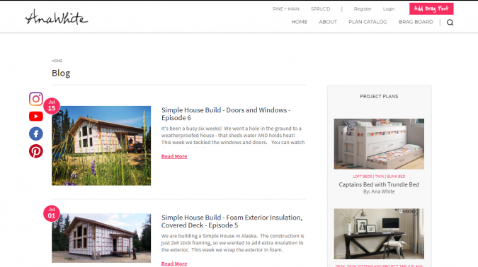 Ana-White-website-screenshot-675x378 Best 50 Home Decor Websites to Follow in 2020
