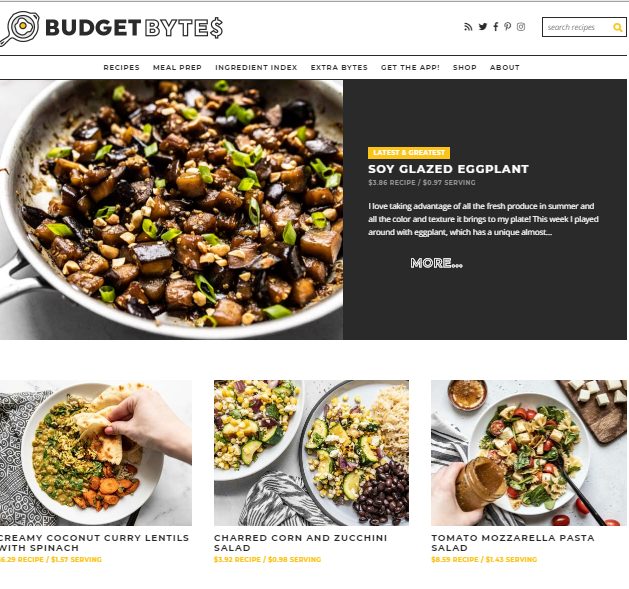 Budget-Bytes Best 50 Healthy Food Blogs and Websites to Follow in 2019