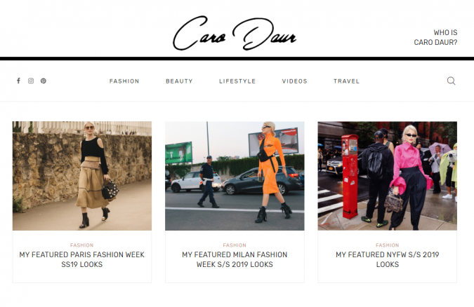 Caro-Daur-website-screenshot-675x438 Top 60 Trendy Women Fashion Blogs to Follow in 2021