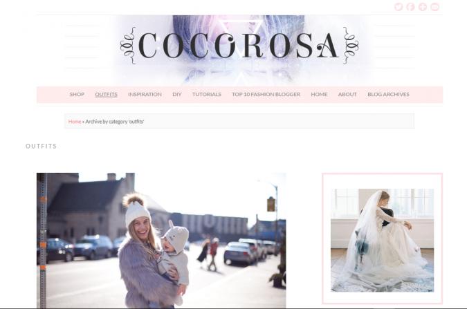 Coco-Rose-website-screenshot-675x447 Top 60 Trendy Women Fashion Blogs to Follow in 2021