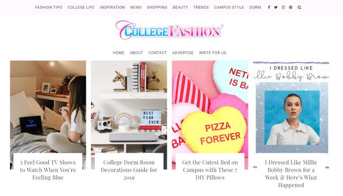 College-Fashion-website-screenshot-675x386 Top 60 Trendy Women Fashion Blogs to Follow in 2019