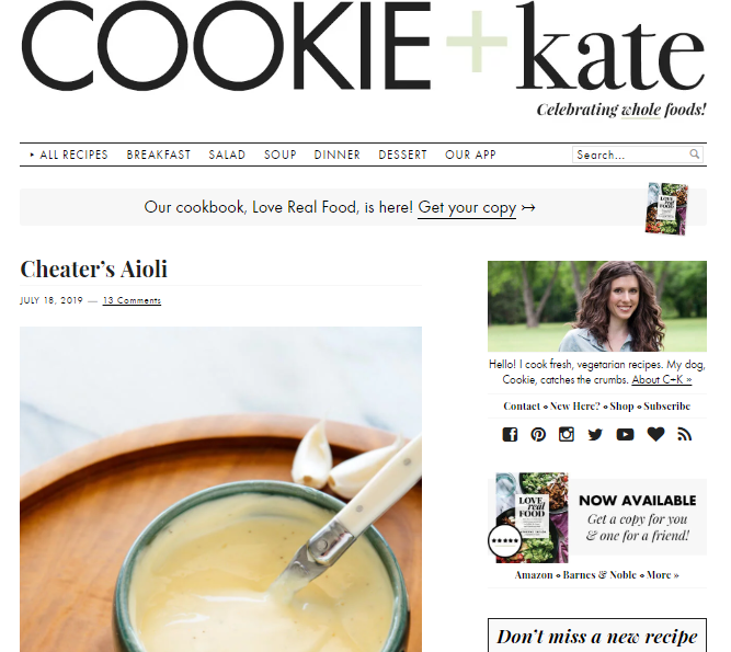 Cookie-and-Kate Best 50 Healthy Food Blogs and Websites to Follow in 2019
