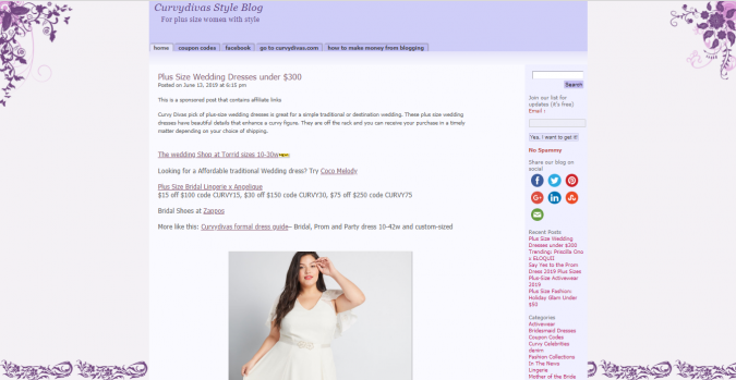 Curvy-Davis-Style-Blog-website-screenshot-675x349 Top 60 Trendy Women Fashion Blogs to Follow in 2021