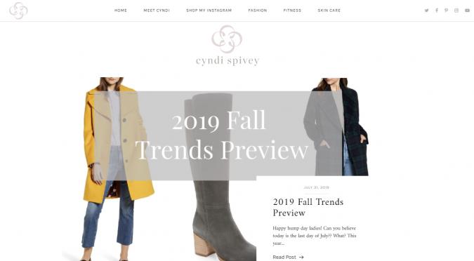 Cyndi-Spivery-blog-screenshot-675x372 Top 60 Trendy Women Fashion Blogs to Follow in 2021
