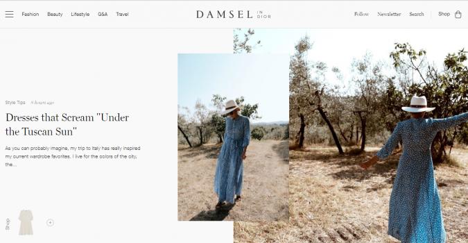 Damsel-blog-screenshot-675x350 Top 60 Trendy Women Fashion Blogs to Follow in 2021