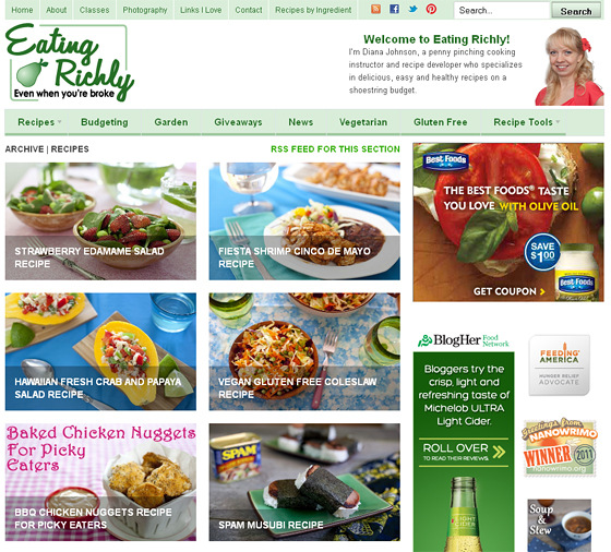 Eating-Richly Best 50 Healthy Food Blogs and Websites to Follow in 2020