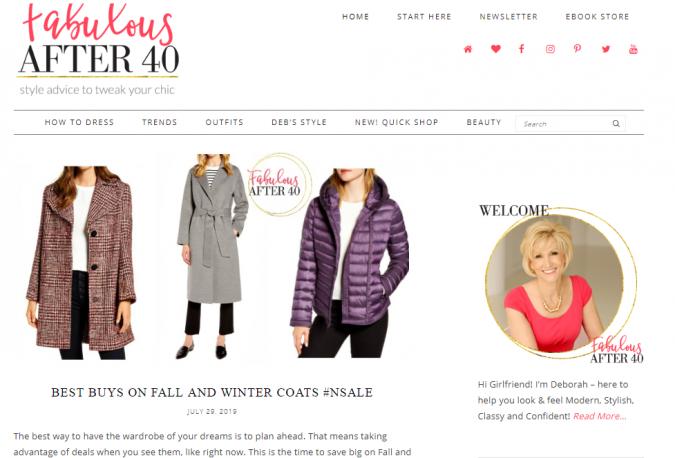 Fabulous-after-40-blog-screenshot-675x458 Top 60 Trendy Women Fashion Blogs to Follow in 2019