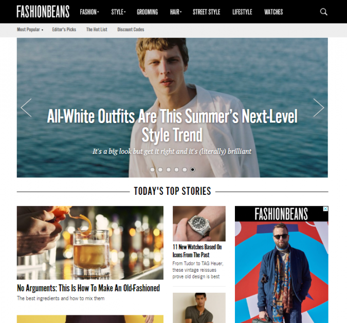 Fashion-beans-website-675x630 Top 60 Trendy Men Fashion Websites to Follow in 2019
