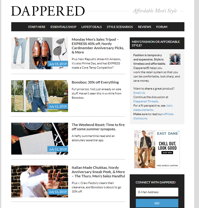 Fashion-style-website-dappered Top 60 Trendy Men Fashion Websites to Follow in 2019