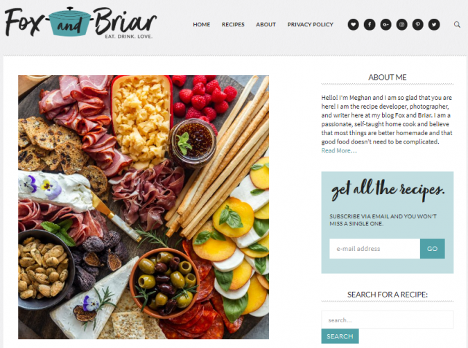 Fox-and-Briar-675x502 Best 50 Healthy Food Blogs and Websites to Follow in 2019