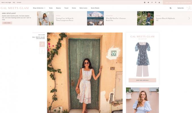 Gal-Meets-Glam-blog-screenshot-675x398 Top 60 Trendy Women Fashion Blogs to Follow in 2019
