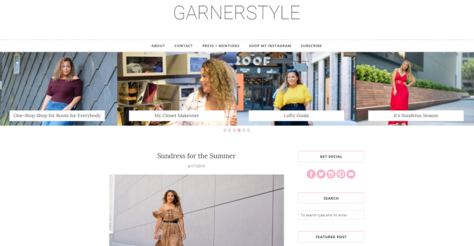 GarnerStyle-website-screenshot-675x351 Top 60 Trendy Women Fashion Blogs to Follow in 2019