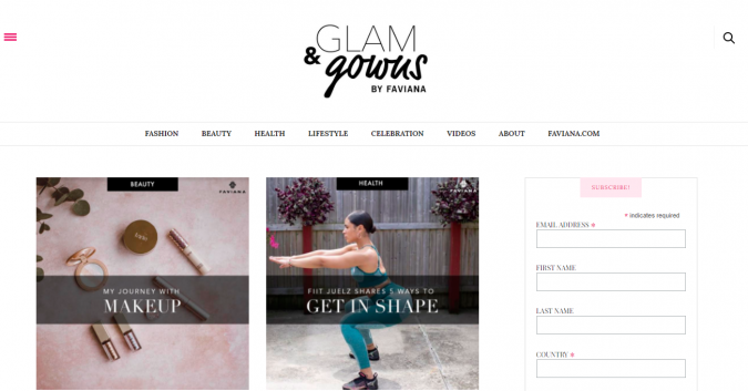 Glam-Gowns-website-screenshot-675x353 Top 60 Trendy Women Fashion Blogs to Follow in 2019