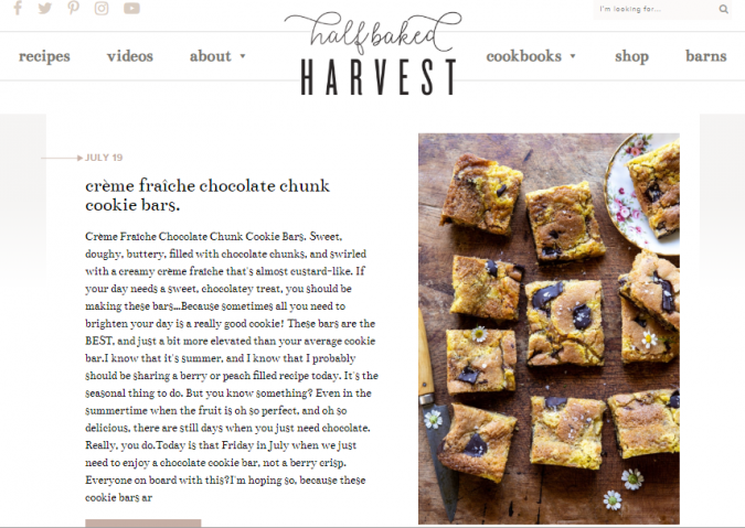 Half-Baked-Harvest-675x479 Best 50 Healthy Food Blogs and Websites to Follow in 2019