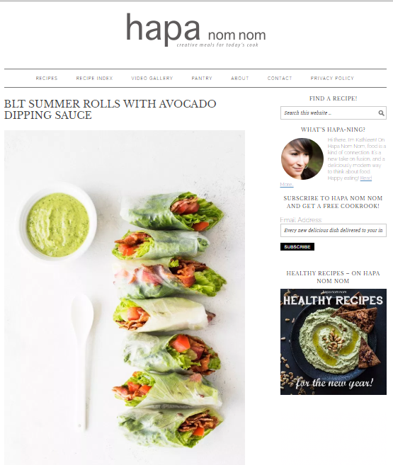 Hapa-Nom-Nom Best 50 Healthy Food Blogs and Websites to Follow in 2019