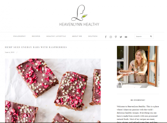 Heavenlynn-Healthy-675x499 Best 50 Healthy Food Blogs and Websites to Follow in 2019