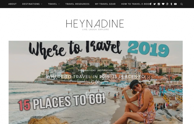 Hey-Nadine-travel-website-675x431 Best 60 Travel Website Services to Follow in 2019