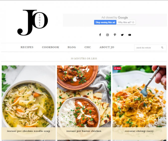 Jo-Cooks-675x566 Best 50 Healthy Food Blogs and Websites to Follow in 2019