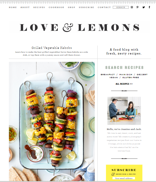 Love-and-Lemons Best 50 Healthy Food Blogs and Websites to Follow in 2020