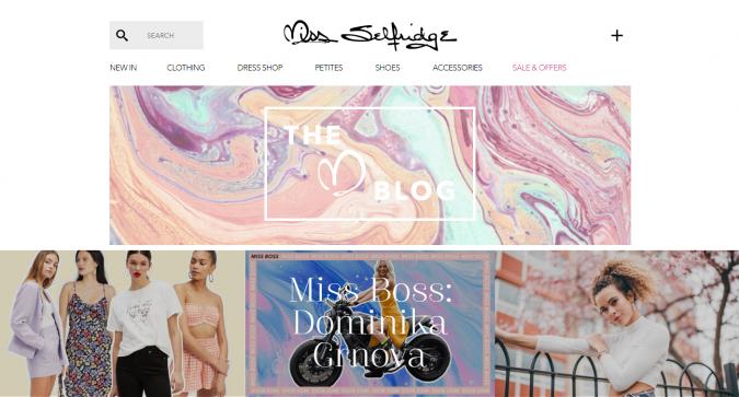 Miss-Selfridge-website-screenshot-675x363 Top 60 Trendy Women Fashion Blogs to Follow in 2019