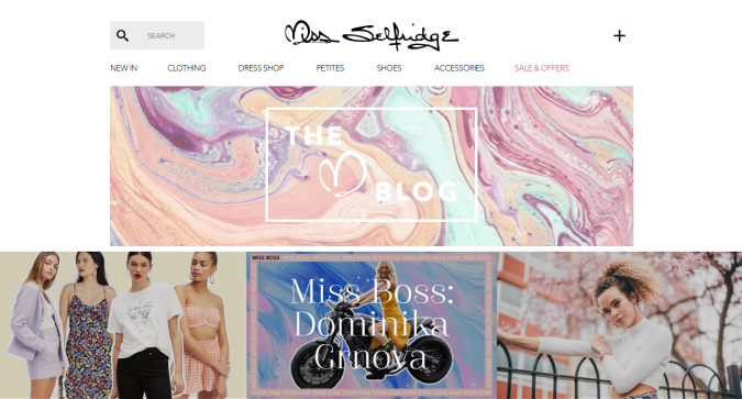 Miss-Selfridge-website-screenshot-675x363 Top 60 Trendy Women Fashion Blogs to Follow in 2021