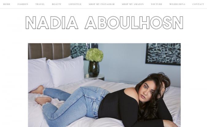 Nadia-Aboulhosn-website-screenshot-675x416 Top 60 Trendy Women Fashion Blogs to Follow in 2021