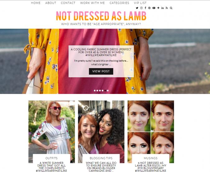 Not-Dressed-as-Lamb-blog-screenshot-675x553 Top 60 Trendy Women Fashion Blogs to Follow in 2021