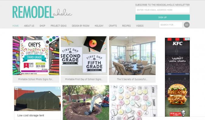 Remodel-aholic-website-screenshot-675x395 Best 50 Home Decor Websites to Follow in 2020