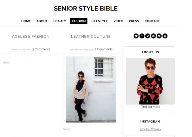 Senior-Style-Bible-website-screenshot-675x483 Top 60 Trendy Women Fashion Blogs to Follow in 2019