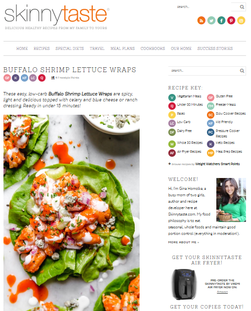 Skinny-Taste Best 50 Healthy Food Blogs and Websites to Follow in 2019