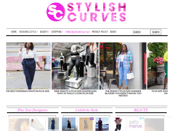 Stylish-Curves-website-screenshot-675x509 Top 60 Trendy Women Fashion Blogs to Follow in 2019