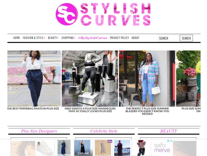 Stylish-Curves-website-screenshot-675x509 Top 60 Trendy Women Fashion Blogs to Follow in 2021