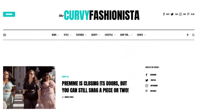 The-Curvy-Fashionista-website-screenshot-675x381 Top 60 Trendy Women Fashion Blogs to Follow in 2019