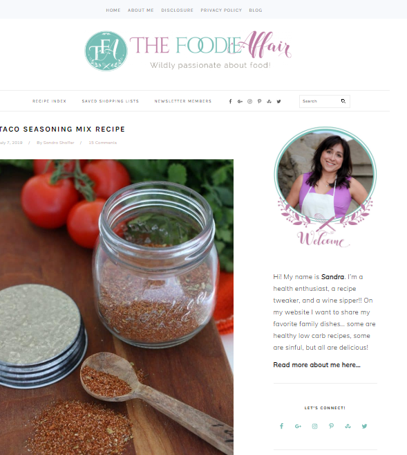 The-Foodie-Affair Best 50 Healthy Food Blogs and Websites to Follow in 2019