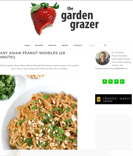 The-Garden-Grazer Best 50 Healthy Food Blogs and Websites to Follow in 2019