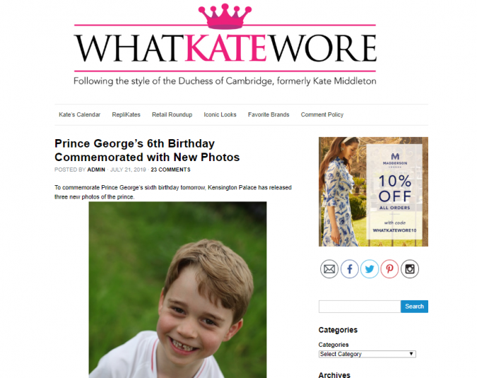 What-Kate-Wore-website-screenshot-675x535 Top 60 Trendy Women Fashion Blogs to Follow in 2020