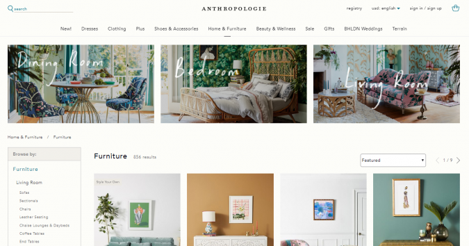 anthropologie-website-screenshot-675x354 Best 50 Home Decor Websites to Follow in 2020