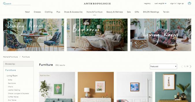 anthropologie-website-screenshot-675x354 Best 50 Home Decor Websites to Follow in 2020