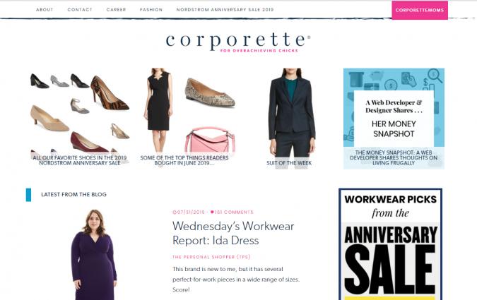 corporette-blog-screenshot-675x425 Top 60 Trendy Women Fashion Blogs to Follow in 2019