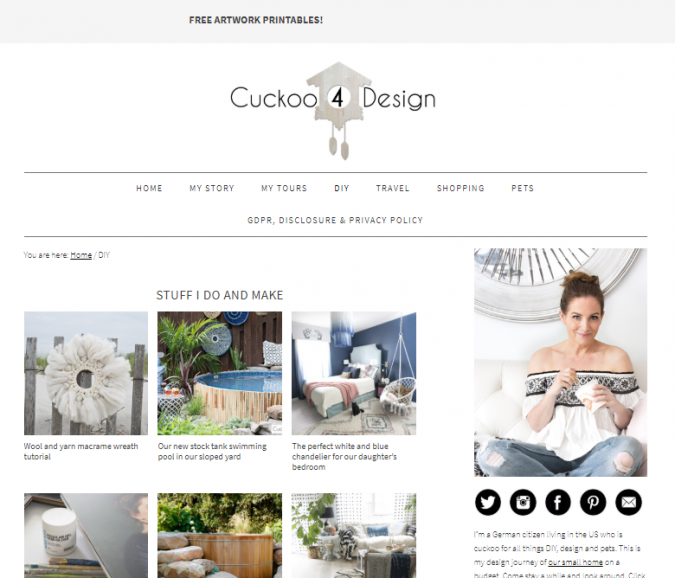 cukoo-4-design-website-screenshot-675x578 Best 50 Home Decor Websites to Follow in 2020