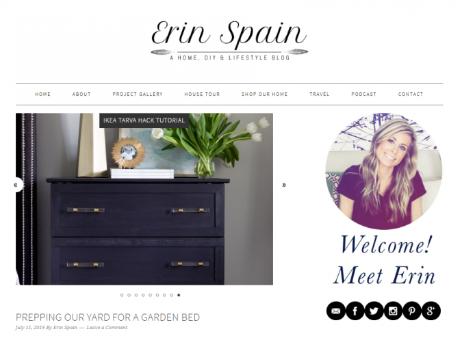 erin-spain-website-screenshot-675x494 Best 50 Home Decor Websites to Follow in 2019