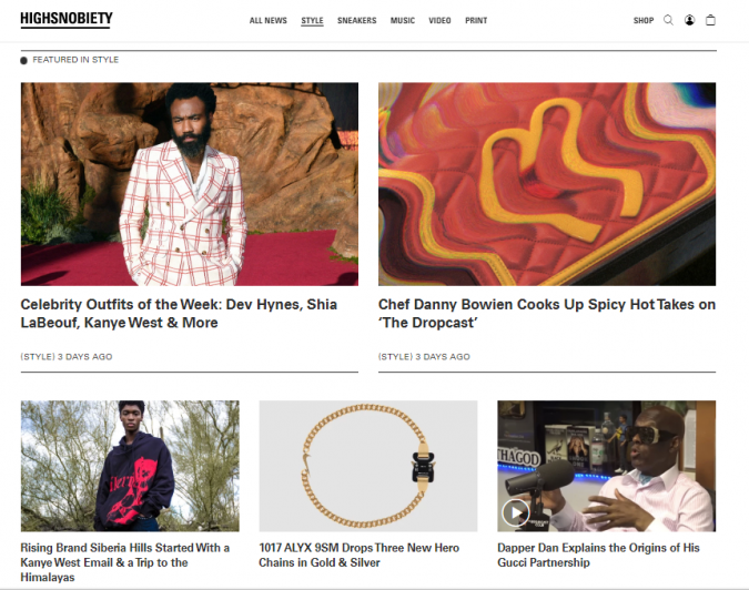 fashion-style-website-Highsnobiety-675x532 Top 60 Trendy Men Fashion Websites to Follow in 2020