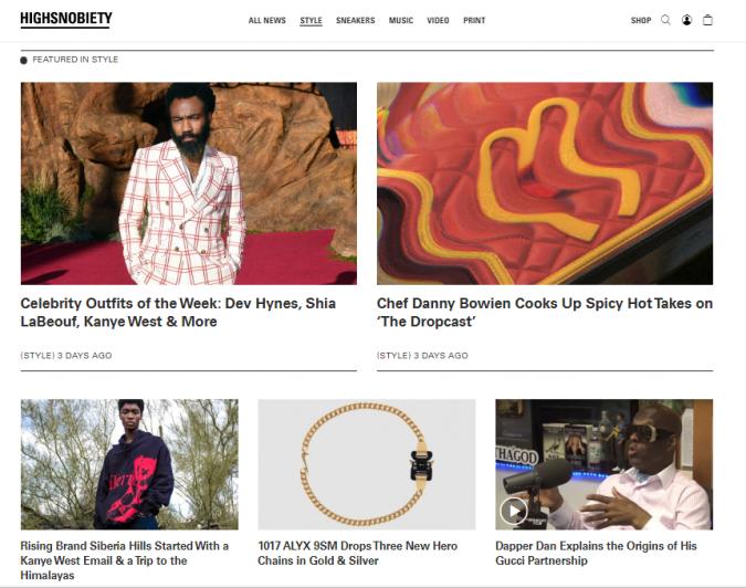 fashion-style-website-Highsnobiety-675x532 Top 60 Trendy Men Fashion Websites to Follow in 2020
