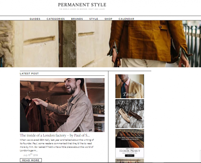 fashion-website-Permanent-Style-675x547 Top 60 Trendy Men Fashion Websites to Follow in 2020