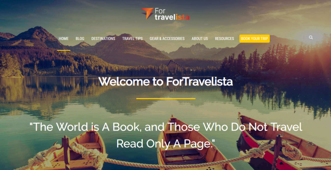 for-travelista-travel-website-675x348 Best 60 Travel Website Services to Follow in 2019