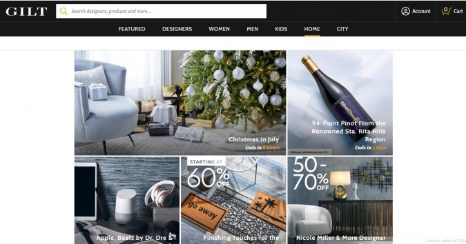gilt-website-screenshot-675x354 Best 50 Home Decor Websites to Follow in 2020