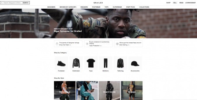 grailed-fashion-style-magazine-675x342 Top 60 Trendy Men Fashion Websites to Follow in 2019